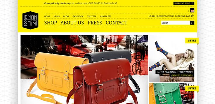 Lemon & Mint - Ecommerce Web Inspiration