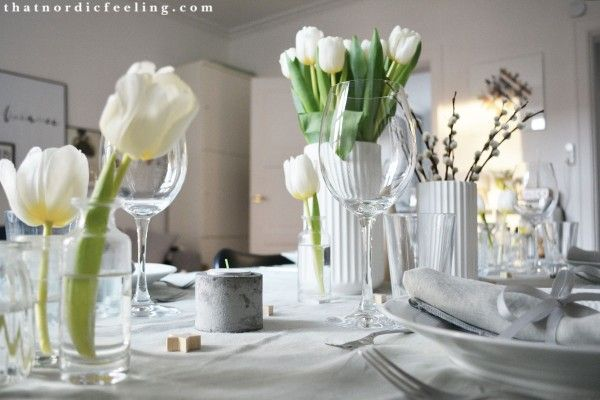 Royal Scandinavian White Fluted. Set a simple yet elegant Scandinavian Christmas table.