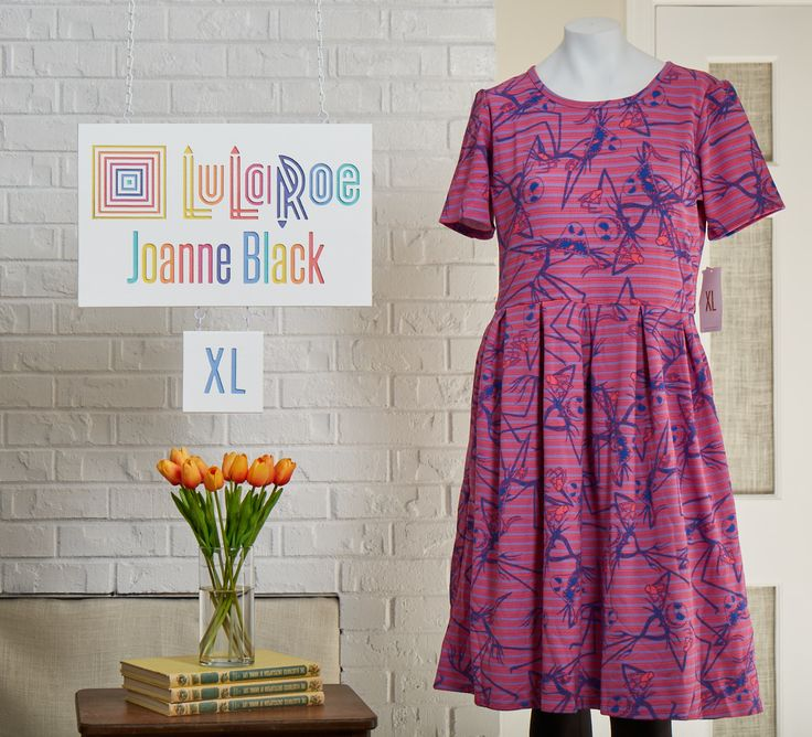 Be still my heart! I am in LOVE with this Amelia dress in pink and purple featuring #jackskellington!!! #nightmarebeforechristmas #lularoejoanneblack #lularoetuliplady