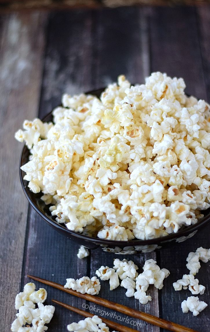 White Chocolate Popcorn with Candy Coated Chocolate
