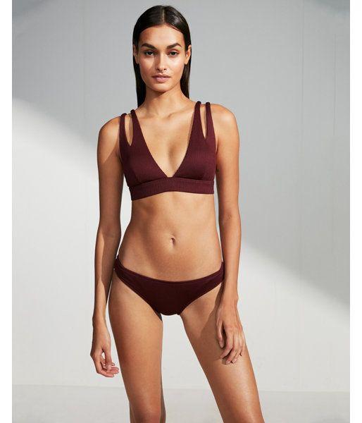 31d6a3f820679 Low Rise Ribbed Basic Bikini Bottoms Purple Women's XL   Products ...