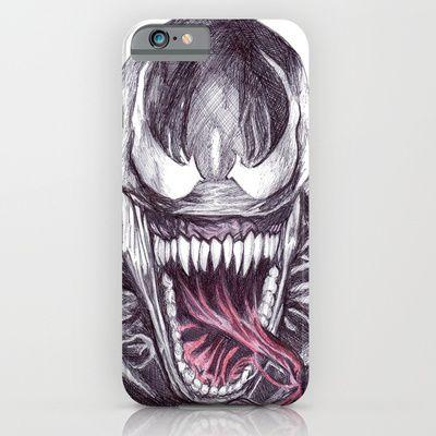 PHONE CASES/ IPHONE (5, 5S) SLIM CASE  DeMoose_Art (demoose21) Venom by DeMoose_Art $35.00