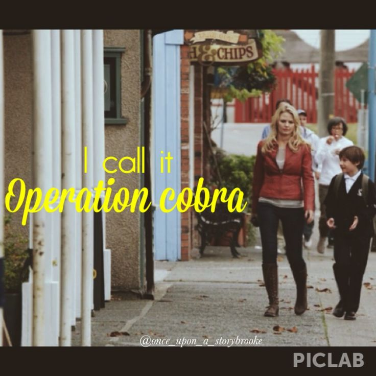 Operation Cobra!  Once Upon a Time season 1