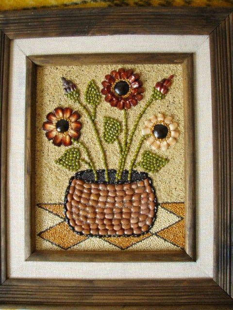 Las 25 mejores ideas sobre manualidades con semillas en - Ideas para hacer cuadros con telas ...