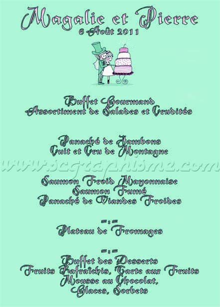 Présentoir de table A4 en pvc - Menu de mariage.  by SCGraphisme.com
