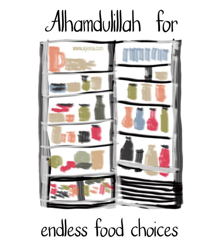 9. Alhamdulillah for endless food choices. #AlhamdulillahForSeries