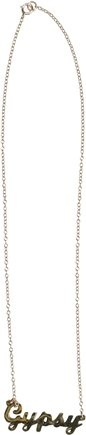 CHELSEA B GYPSY THIN GOLD CHAIN NECKLACE | Swell.com