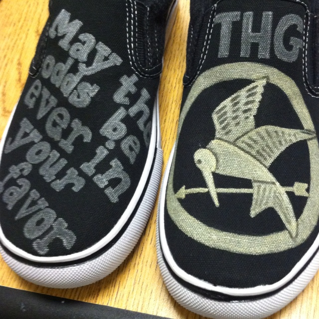 Shoes I made for the hunger games :-)