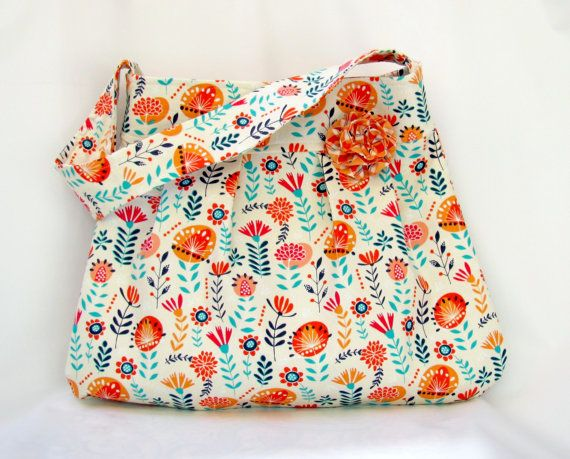 Shoulder Bag Diaper Bag Large Bag Wildflowers in by MintChocolat