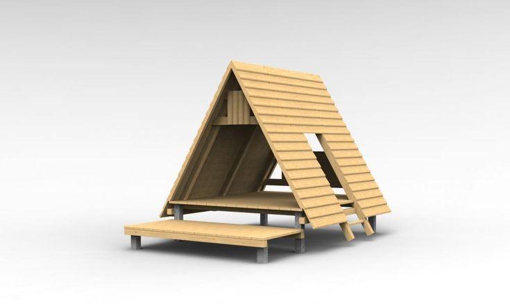 Stanový domeček s terasou