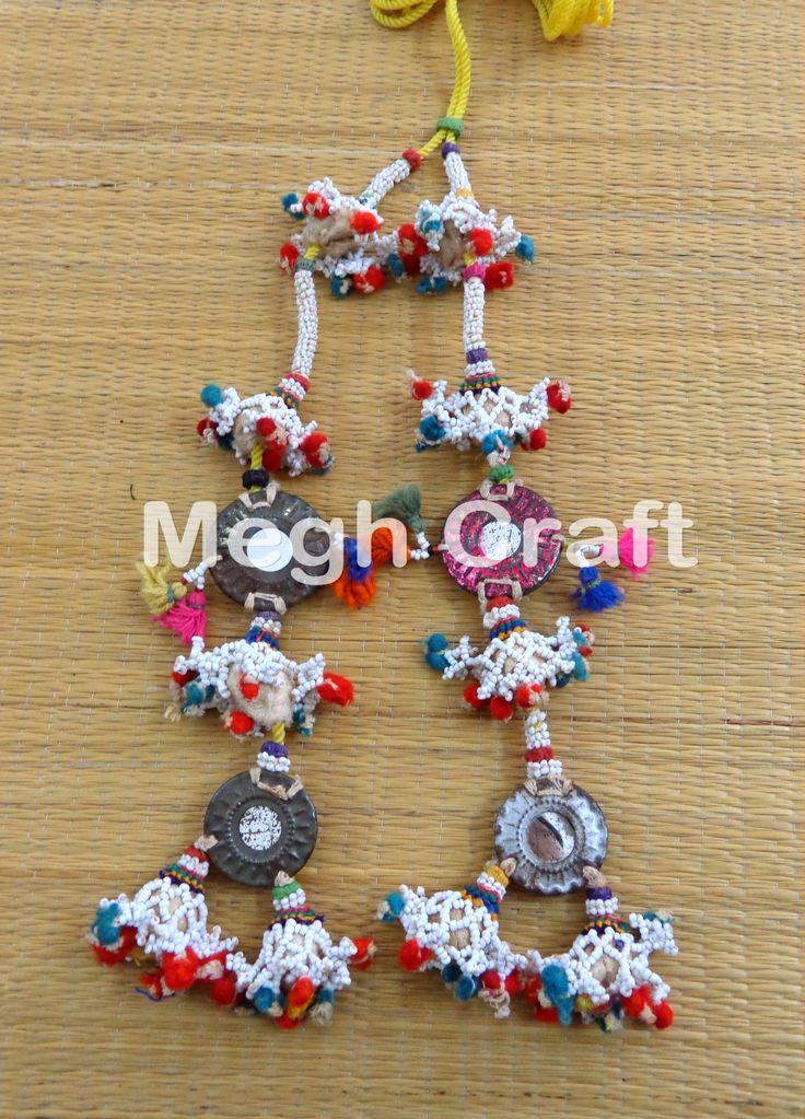 Gypsy Pom Pom Waist-Belts  Vintage Old Banjara shell  Waist-Belts BY #CraftsOfGujarat #craftnfashion #meghcraft #indianethnicjewery