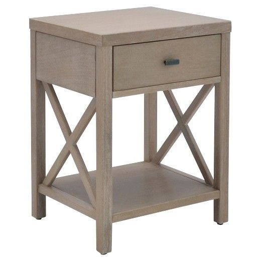 Small Hickory White Table With 3 Drawers ~ Best side table with drawer ideas on pinterest small