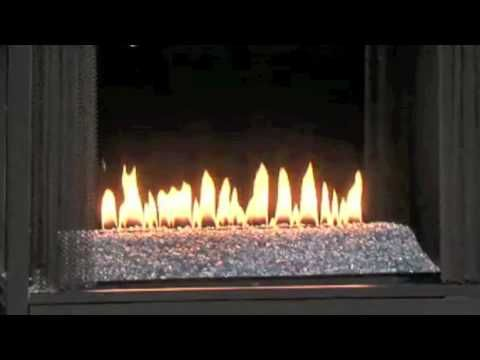 Ventless Gas Fireplace With Flame With Fire Glass And See Through Vent Free Gas Fires Youtube