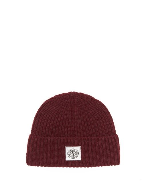 STONE ISLAND Logo-Jacquard Wool-Blend Beanie Hat. #stoneisland #hat