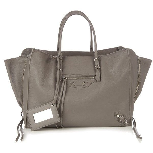 Balenciaga Papier B4 leather tote (€1.595) ❤ liked on Polyvore featuring bags, handbags and tote bags