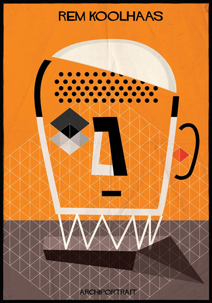 federico babina illustrates renowned architects in their own style