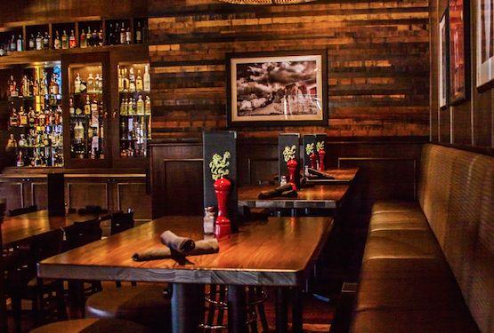 Viridian Reclaimed Wood Jakarta Rustic paneling at Thirsty Lion in Scottsdale, AZ