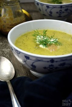 Ina Is(s)t: Zucchini-Senf-Suppe mit Dill / Zucchini soup with mustard and dill