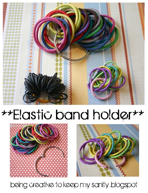 Elastic Hair Band Holder: I did this and it's amazing!  I love how little tips make my life so much better!