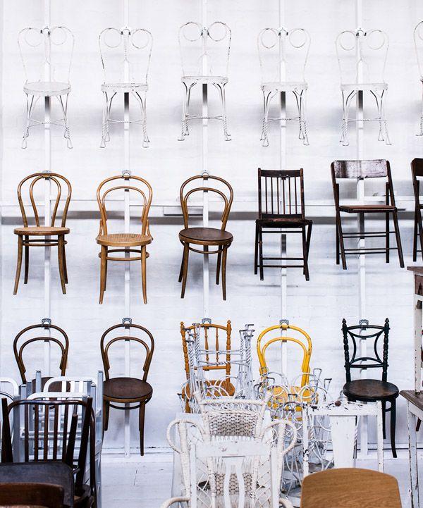 The chair wall atThe Establishment Studios. Photo -Sean Fennessy.