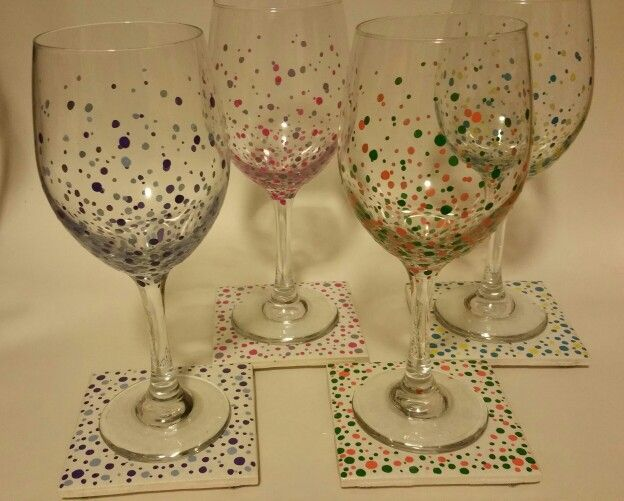 Dots with coordinating coasters