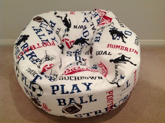 Children's Bean Bag Boy's Sports Red White & Blue. Kids, Toddlers, Children