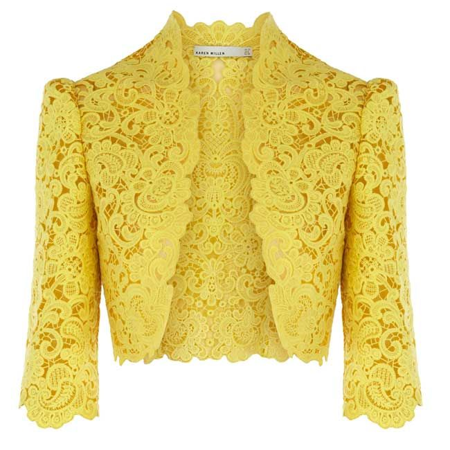 Karen Millen lace jacket.