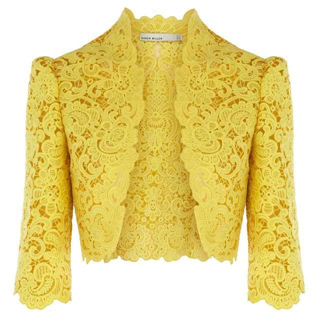 Yellow cropped jacket