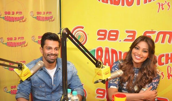 Bipasha Basu, Karan Singh Grover Stills For Alone Promoted at Radio Mirchi 98.3 FM in Mumbai Studio | Bollywood Tamil Telugu Celebrities Photos