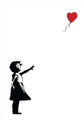 Balloon Girl by Banksy - Large Poster