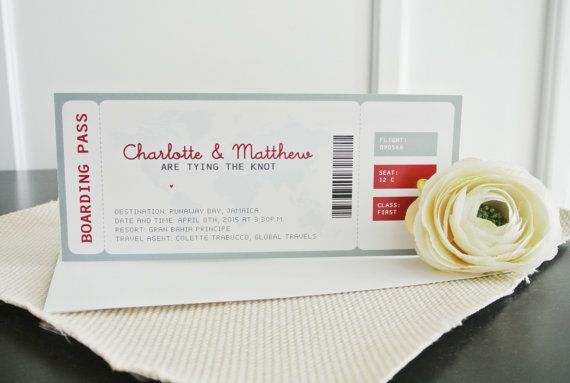 Boarding pass invitation set by ATLovelyDesigns on Etsy
