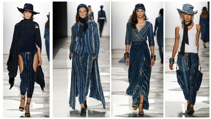 blue jean runway fashion | Greg Lauren Spring 2016 Collection | NY Fashion Week ...