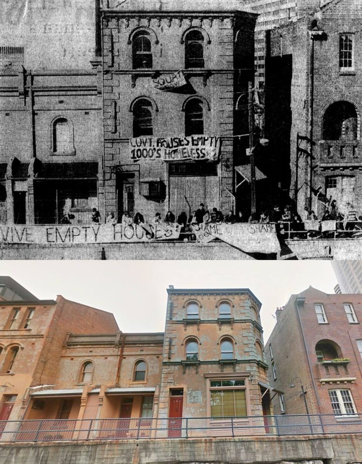 138 Cumberland St,The Rocks 1981>2014 [Australian Museum of Squatting and Google Street View. By Kevin Sundgren]