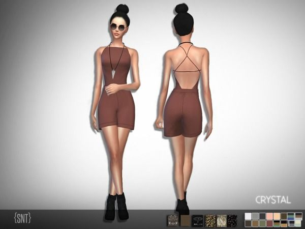 The Sims Resource: Crystal Jumpsuit - Get to Work needed by serenity-cc • Sims 4 Downloads