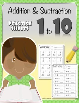 Includes 6 Practice Sheets: 3 Addition and 3 Subtraction practice sheets  Common Core Aligned: K.OA.1  Enjoy :)
