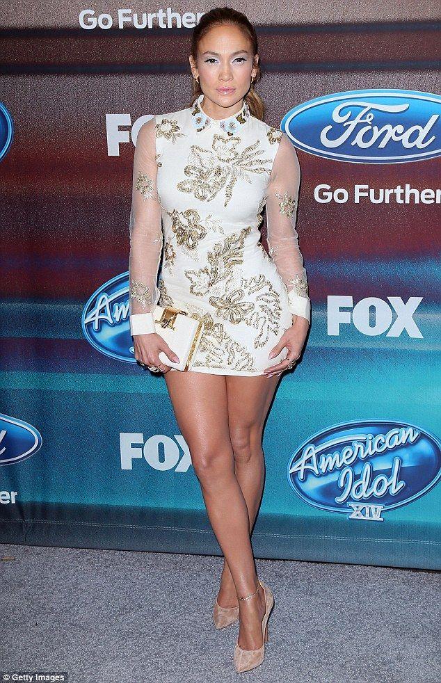 Jlo white dress lo back
