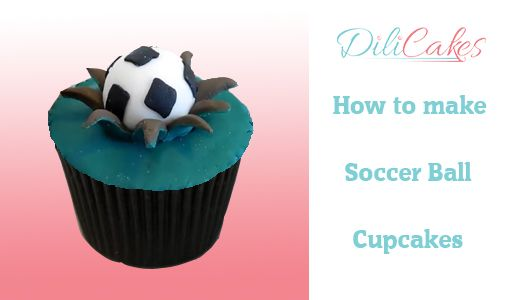 Youtube video: how to make soccer ball cupcakes
