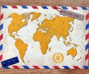 52 Postkarten Weltkarte