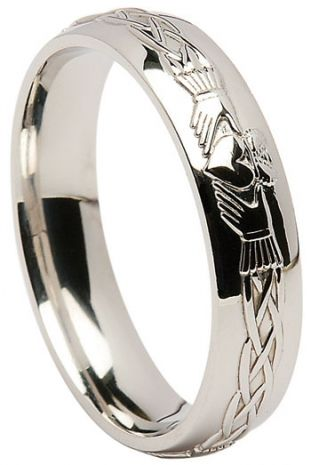 Palladium Claddagh Celtic Wedding Band #weddingrings #claddaghring #palladiumrings €459.00
