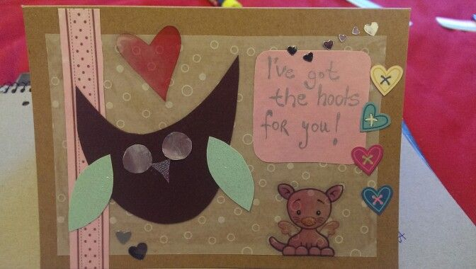 Valentines owl card