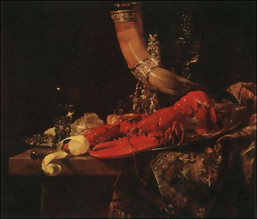 Willem Kalf (1619 - 1693), Lobster Still-Life, c. 1653
