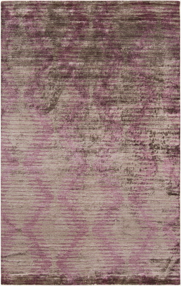 this new rug from the platinum collection is sultry and sheen with the use of viscose purple area