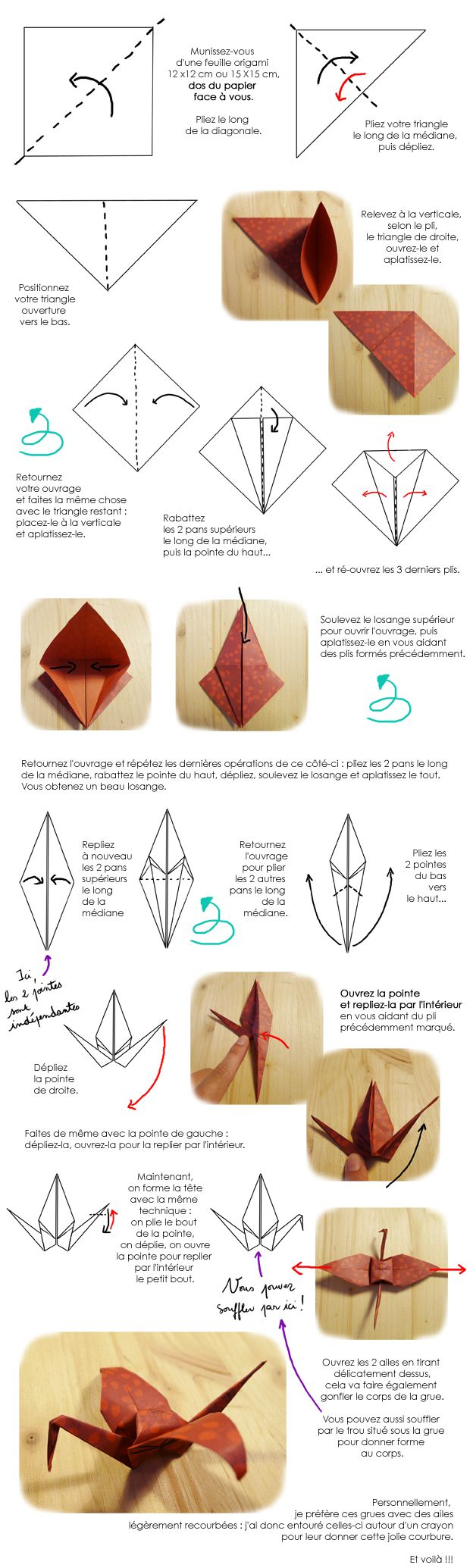 Tutoriel grue origami