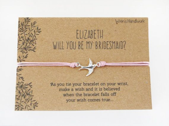 """""""Will you be my Bridesmaid?"""" Bracelet"""