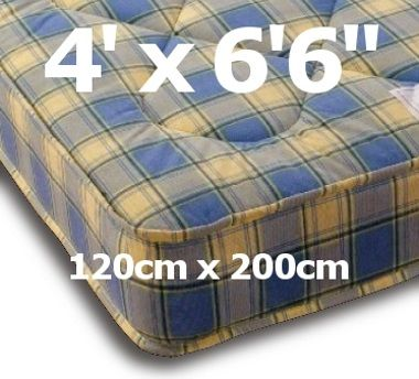 4ft x 6ft6 Ortho Mattress - £239.95 - The Ortho mattress is a firm mattress with a lower price tag and continues to be very very popular for it's low price, comfy feel and value for money. It is similar in appearance to the Prague but with a stronger spring. Firm but certainly not hard