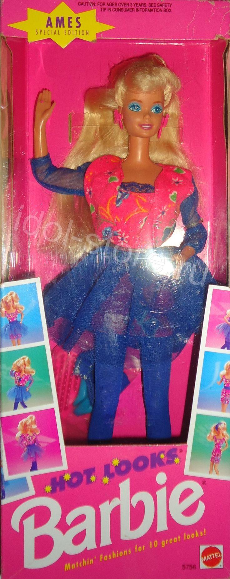 "Hot Looks - Blonde Barbie Doll - Special Edition - AMES 1992. Кукла Барби винтажная ""Хот Лукс"" - специальный выпуск 1992 года"