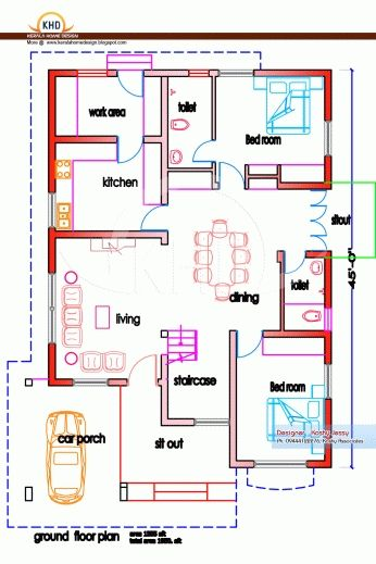 Model House Plan, Indian House Plans, Home Plan Software