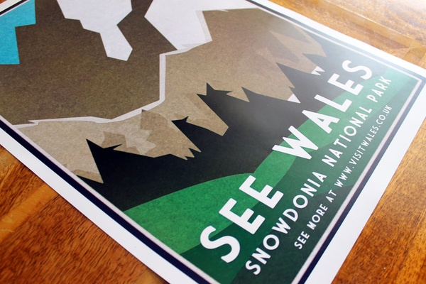 Visit Wales Poster by Tomos Wilding, via Behance