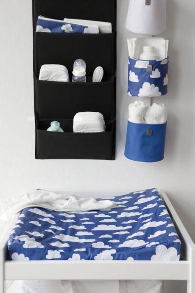 Przewijak CHMURKI na niebieskim tle, Farg&Form Przewijaki - BABYDECO