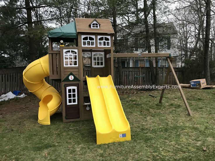 Costco Cedar Manor Lookout Lodge Swing Set W Timber